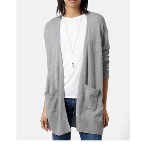 Topshop Longline Open Front Cardigan with Pockets